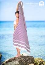 Hamman Lux Cream - Brown lines Honeycomb fouta by Cool-Fouta, Photo: Jose Antonio Hervas Mora - Ibiza Lights, Model: Andrew Varel-la, Make up & Hair: Coco Bliss