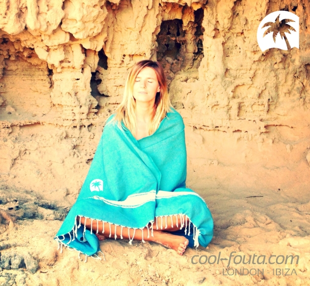 Meditation with Cool-Fouta.com somewhere in Ibiza